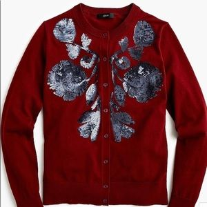 J. Crew Sequin Floral Jackie Cardigan S NWT